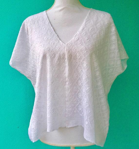 Hand-Woven Huipil/White cotton gauze   Etsy