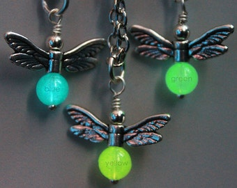 Your choice - glow in the dark firefly necklace