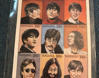 John Lennon Tanzania Stamps  give peace a chance