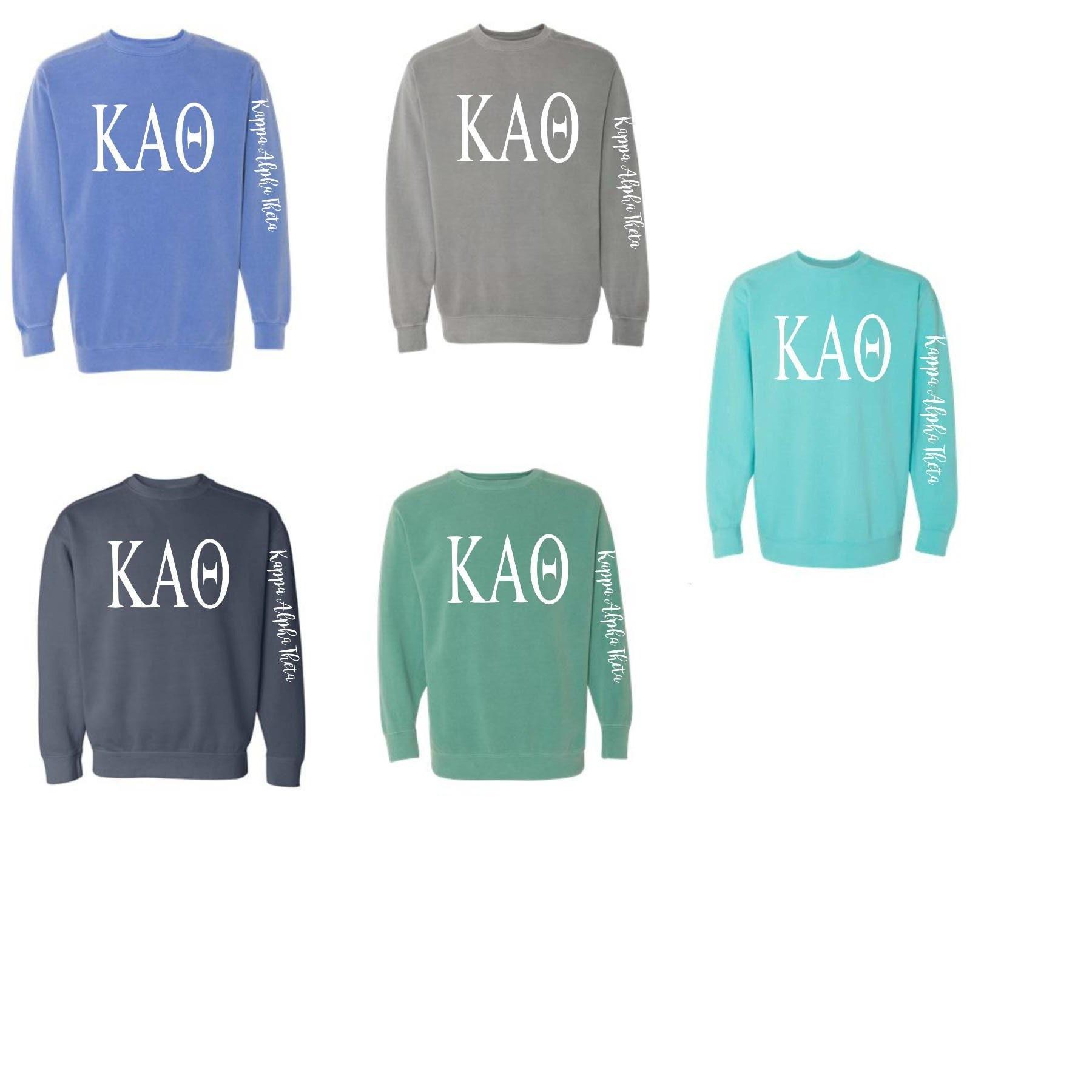 05036fc2 Kappa Alpha Theta Comfort Colors Crewneck Sweatshirt | Etsy
