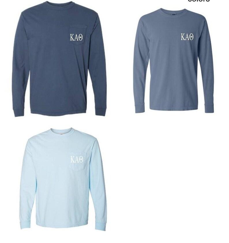 bc8a2bdd Theta Comfort Colors Long Sleeve Pocket T-shirt Licensed | Etsy