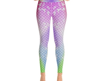 5e4e5972e12f35 Mermaid Leggings Women, Dragon Fish Scale Leggings, Reptile Leggings, Leggings, Capris, Yoga Pants,HighWaist Yoga Shorts,Little Mermaid