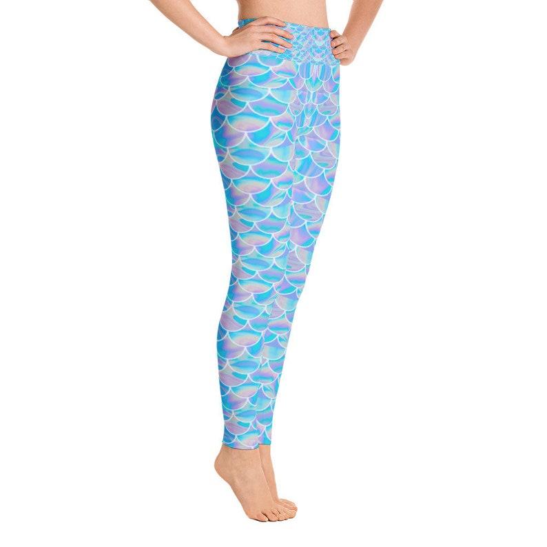 Dragon Fish Scale Leggings Capris Reptile Leggings,Leggings Yoga Pants,HighWaist Yoga Shorts,Little Mermaid Mermaid Leggings Women