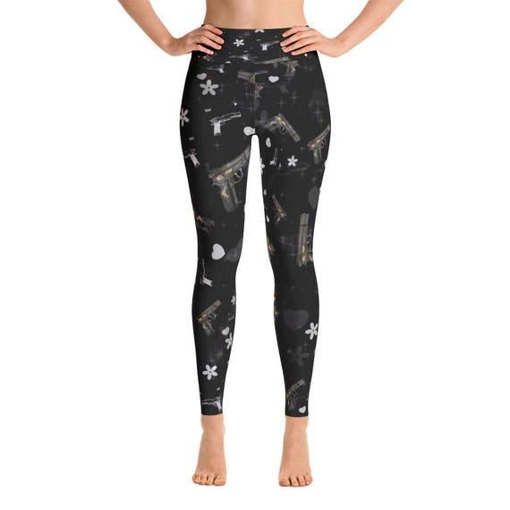 Fitness Workout Yoga Pants Joggers Black OM Leggings Capri Yoga Pants Sport Stretch Leggings