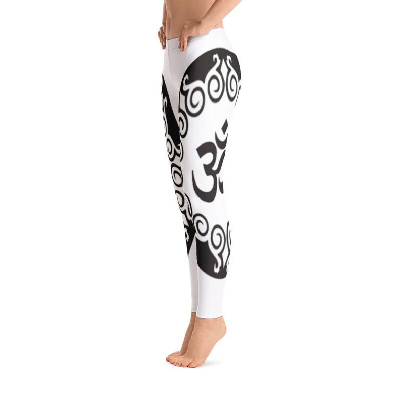 Awesome OM Print Leggings Capri Yoga Pants Sport Stretch Leggings Fitness Workout Yoga Pants JoggersHigh Waist Yoga ShortsYoga Shorts