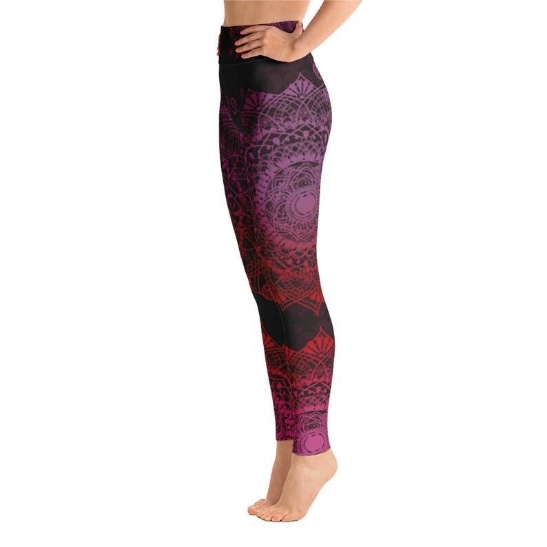 96f65fa7e41217 Mandala Yoga LeggingsChakra Yoga LeggingsBohemian Print | Etsy