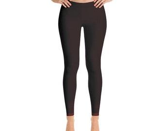 Red Multicolor Gradient Ombre Leggings ,High Waist Yoga Shorts Workout Leggings