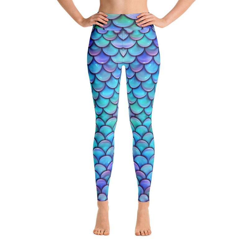 d61bf9fb044360 Mermaid Leggings Women Dragon Fish Scale Leggings Reptile | Etsy