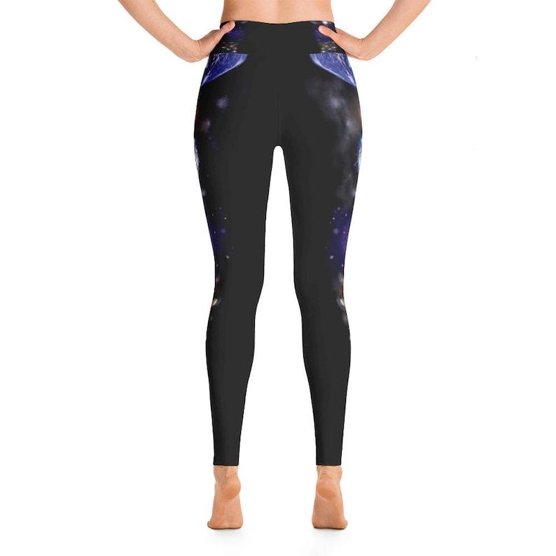 2f58aa2abd1d7 Galaxy Universe Yoga Leggings Capri Yoga Pants Sport Stretch | Etsy