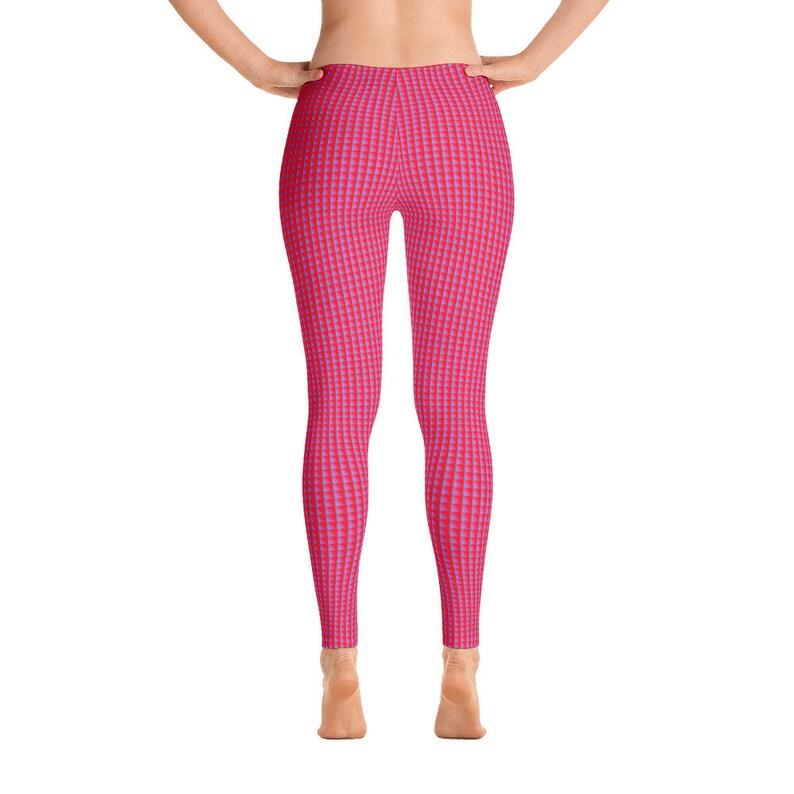 High Waist Yoga Shorts Workout Leggings Pink Pattern Womens Leggings Pink Pattern Pants Designer Leggings