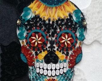 Quilling - Day of the Dead Sugar Skull, Original Artwork