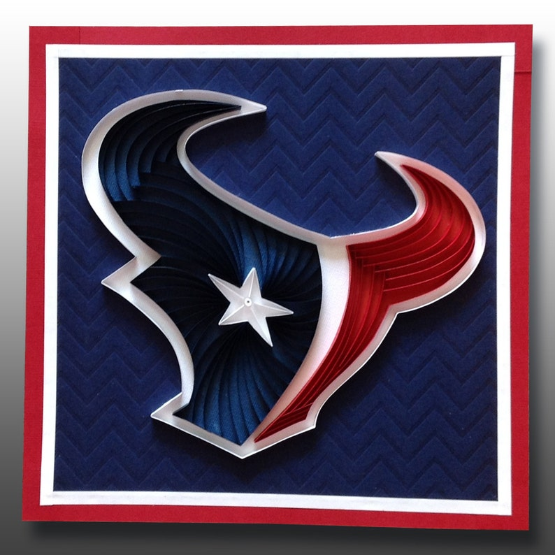 Houston Texans Nfl Logo Art Quilling Wall Decor Home Decor Etsy