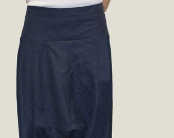 Loose Linen Pants/ Linen Harem Pants/ Wide Leg Pants/ Skirt Pants /Blue Pants/F1038