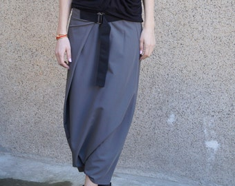 035ad14889b Draped Pants Loose Skirt Pants Khaki Harem Pants Drop Crotch Pants XXL Skirt Loose  Pants Extravagant pants Tapered Pants Wrapped Pants F1673