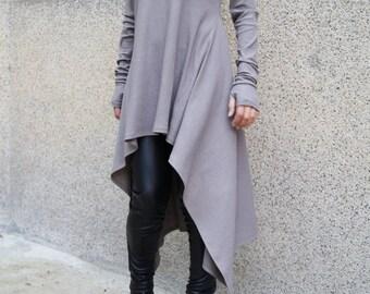 4b6006ad94bd White Asymmetrical Sweater Cozy Sweater  Sweater Dress Knit