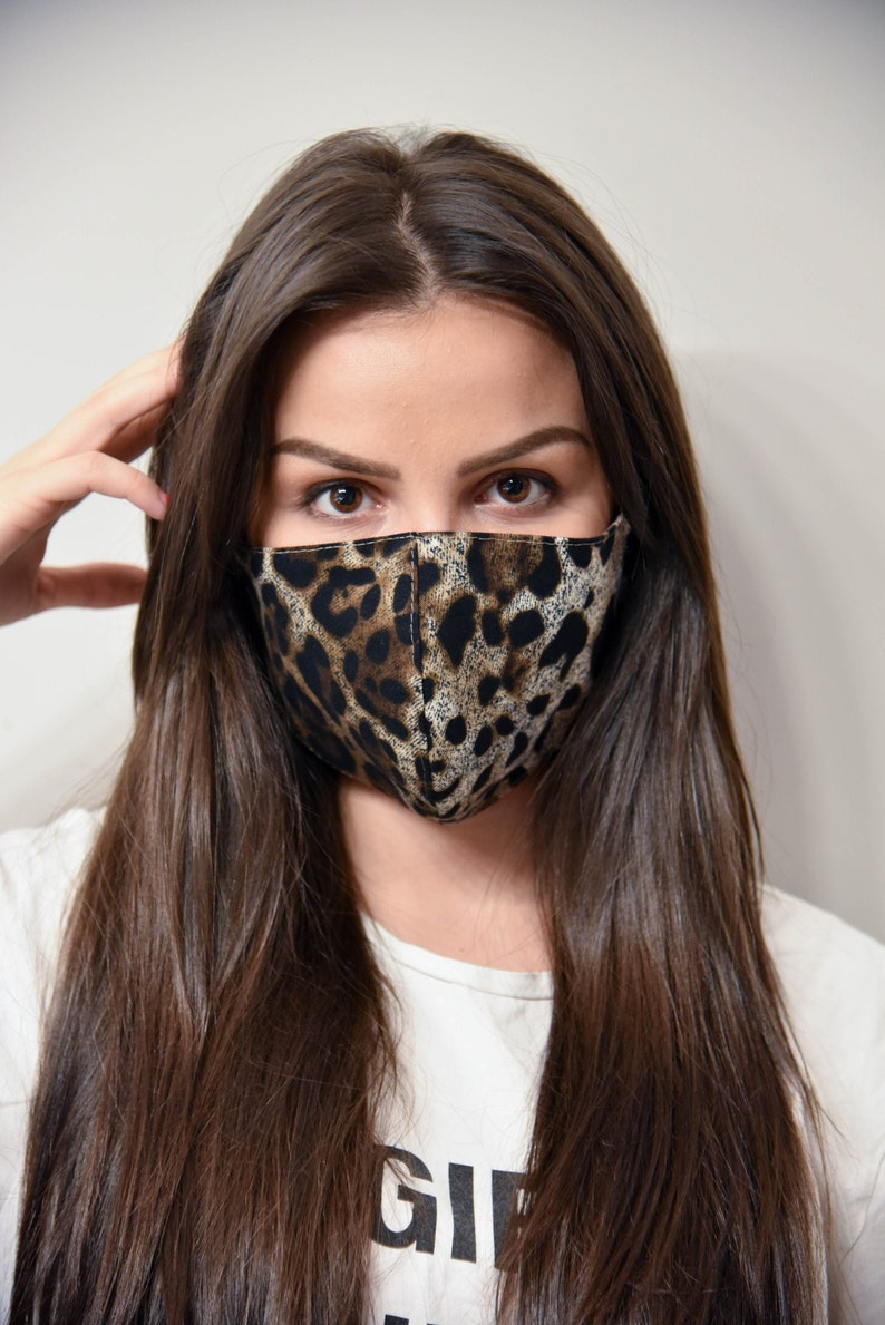 Leopard Face Mask with Filter/Activity Mask/Activity image 0
