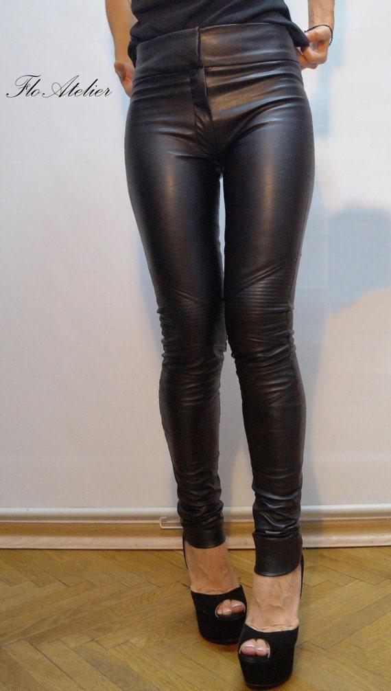 professional sale half off amazing price Vegan Leather Pants/Stretchy Pants/Leggings/Skinny Pants/Black   Etsy