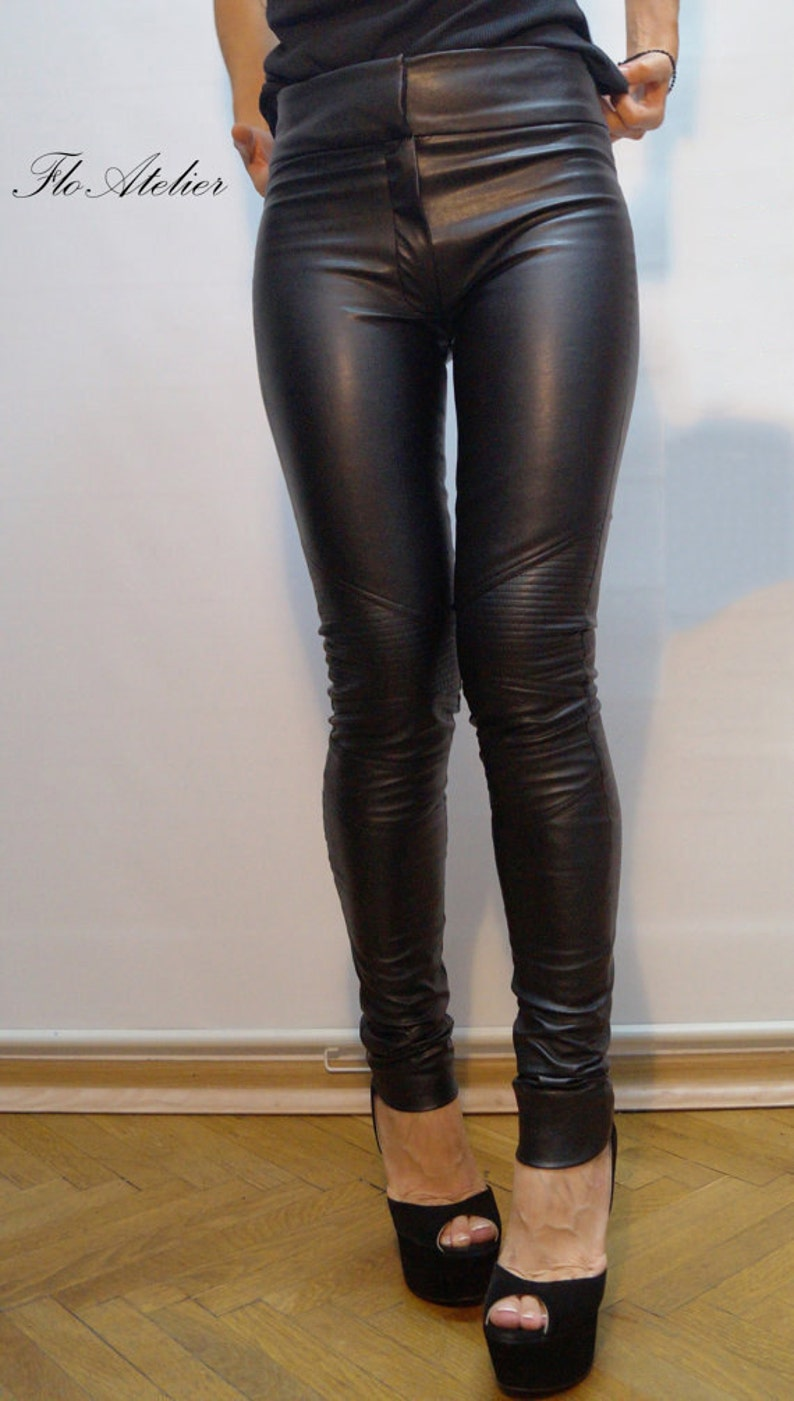 a9c4d96f209191 Vegan Leather Pants/Stretchy Pants/Leggings/Skinny Pants/Black | Etsy