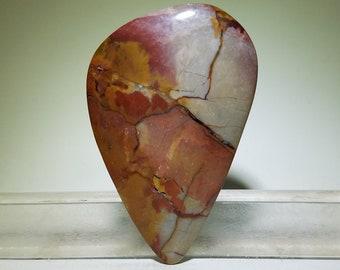 Dragon jasper cabochon, Dead Camel Mountains | natural stone gem,pendant jewelry bead,necklace gemstone,designer craft rock,artisan handmade