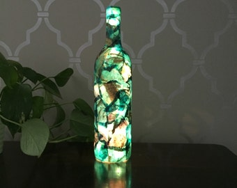 Aqua Light Up Wine Bottle