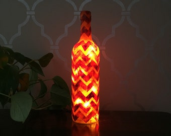 Chevron Light Up Wine Bottle