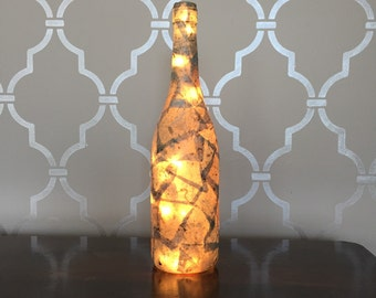 Stone Light Up Wine Bottle