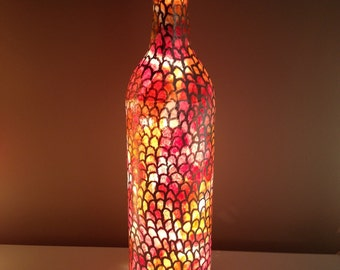 Scalloped Light Up Wine Bottle