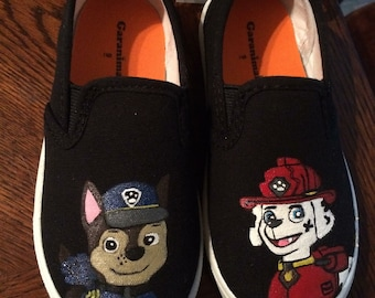 Paw patrol painted shoes