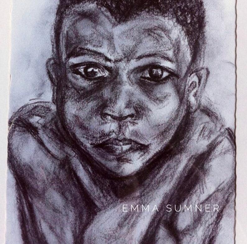 Boy  African Boy Portrait Drawing  A5  Print Edition  image 0