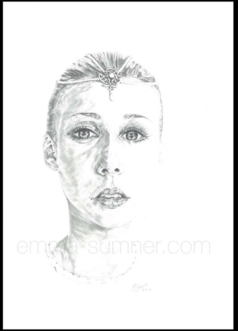 Princess of Light Never-Ending Story  Portrait Drawing   image 0