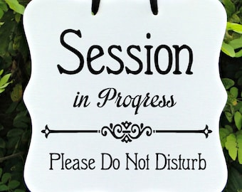 yoga in session sign etsy