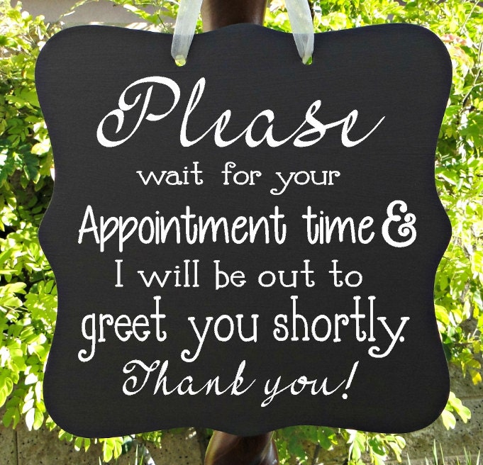 appointment sign office sign business sign door sign client