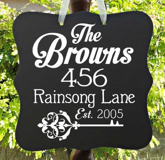 Home Address Sign, Personalized, Last Name, Housewarming, Welcome Sign, Home Decor, Door Hanger, Home Address Plaque