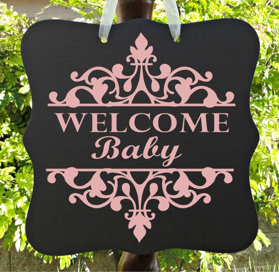 Welcome Baby Sign, Baby Girl Sign, Personalized Sign, Nursery Sign, Child Name Sign, Baby Sign, Home Decor, Baby Shower Sign