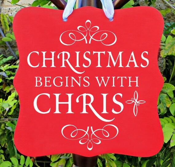 Christmas Sign, Christmas Begins With Christ Sign, Holiday Sign, Holiday, Wall Art, Home Decor, Christmas Gift, Christian
