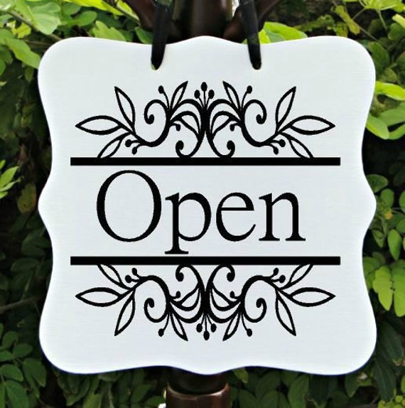 Open Sign & Closed Sign, Two Sided, Boutique Open Sign, Cafe Sign, Office Sign, Store Sign, Shop Sign, Salon Sign, Farmhouse Sign