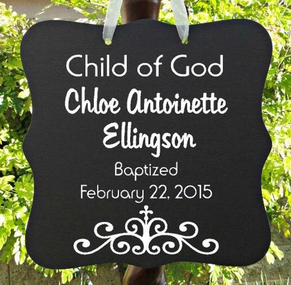 Child Of God Sign, Personalized Sign, Baptism Sign, Girl Baptism, Boy Baptism, Christian Sign, Christening Gift, Baptism Gift, Keepsake