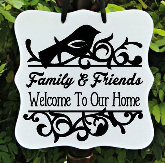 Welcome To Our Home Sign, Farmhouse Sign, Family Sign, Home Decor, Wall Art, Door Hanger, Front Entry, Housewarming Gift, Welcome Sign