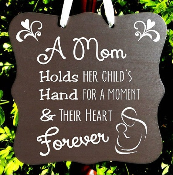 Mother and Child Forever Sign, Home Decor, Mother's Day, Children Sign, Wall Art