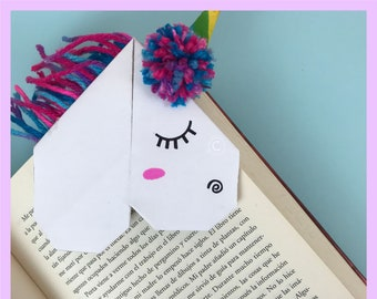 Unique & Beautiful Unicorn Bookmark (Yarn or Paper hair options available)
