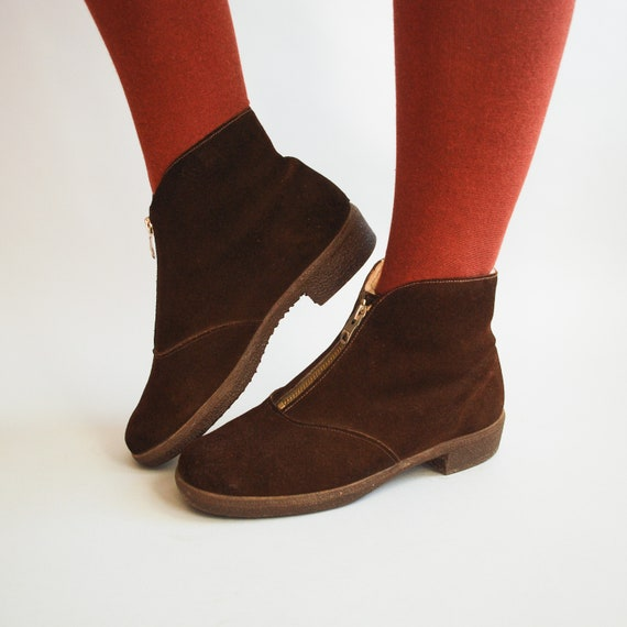 1950s Hickory Ankle Boots   Morlands Sheepskin Win