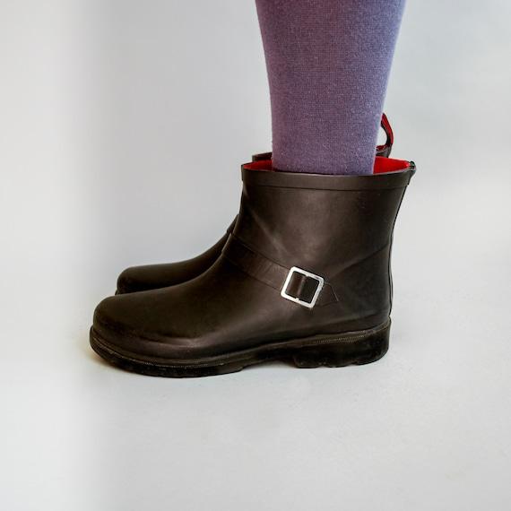 1990s Casey Boots | Vintage Ankle Rain Boots