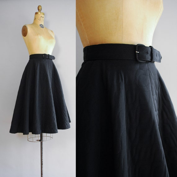 1950s Dahlia Skirt   Mid Century Quilted Circle S… - image 2