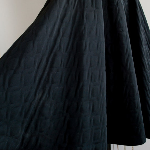 1950s Dahlia Skirt   Mid Century Quilted Circle S… - image 7