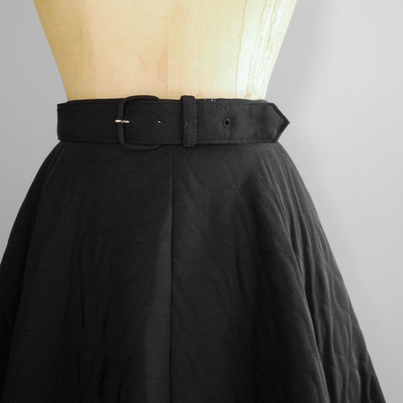 1950s Dahlia Skirt   Mid Century Quilted Circle S… - image 5