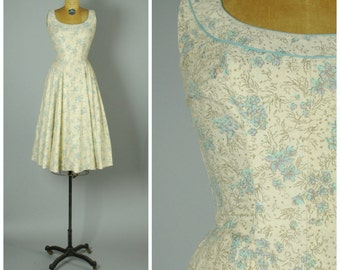 Orgeval dress • 1950s cotton sun dress