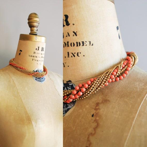 1930s Coraline Necklace • Vintage Brass Choker - image 2