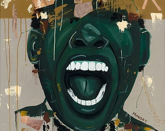 """African American Art""""You Stole My History"""" canvas print gallery wrap free shipping"""