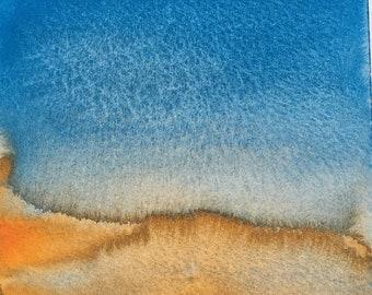 """Original Watercolor Painting- """"Gradient 1"""""""