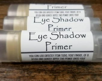 All Natural Eye Shadow Primer - Nourishing - Makeup - Mineral Cosmetics - Beauty Care - Long Lasting - Women - Gift - Tube - Organic